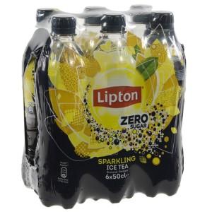 Lipton PET  Zero sugar  50 cl  Pak  6 st