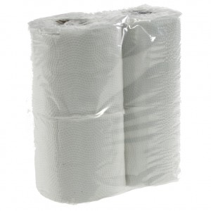 Wc papier 2 lagen wit  Pak  4 st