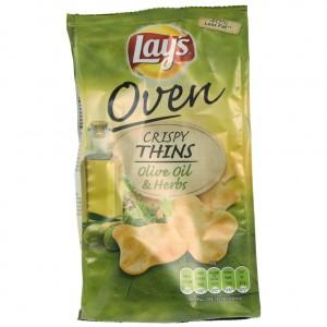 Lays Crispy Thins Oliv Oil&herbs  90 gr