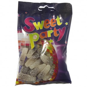 Sweet Party 5 cole flesjes zuur  100 g