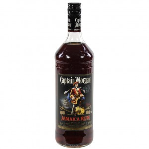 Captain Morgan Jam Rum Black  1 liter   Fles