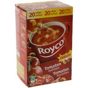 Royco soep doos  Tomaat + Bal  Doos 20st