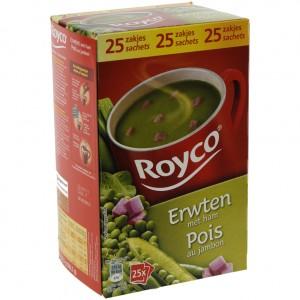 Royco soep doos  Erwten  Doos 25 st