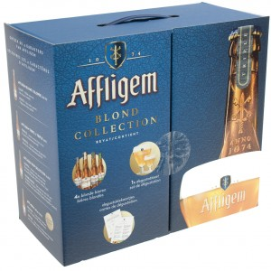 Affligem Geschenk Blond Collection  33 cl  4fles + 2glas