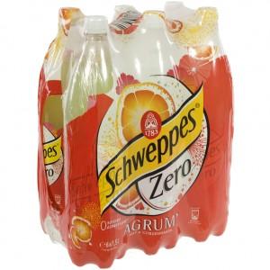Schweppes agrum PET  Zero  1,5 liter  Pak  6 st