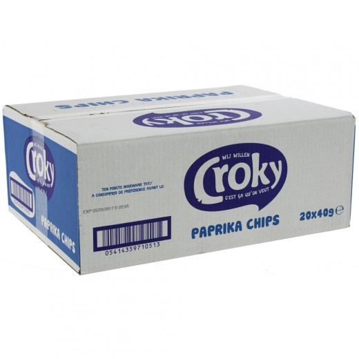 Croky Chips  Paprika  Doos 20st  40 g