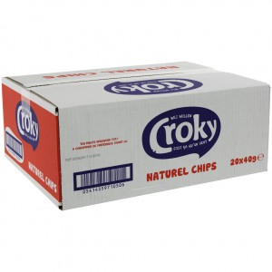 Croky Chips  Naturel  Doos 20st  40 g