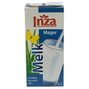 Inza Melk brik  Magere  1 liter   Stuk