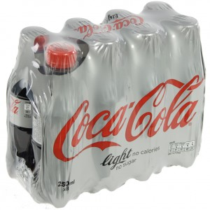 Coca Cola PET  Light  25 cl  Pak  8 st
