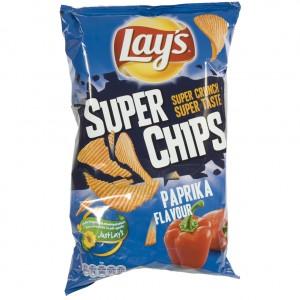 Lays Super Chips  Paprika   Stuk  200 g