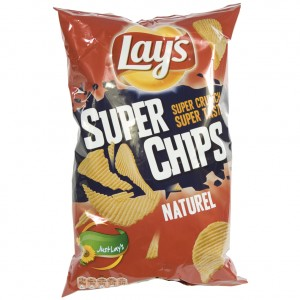 Lays Super Chips  Naturel   Stuk  200 g