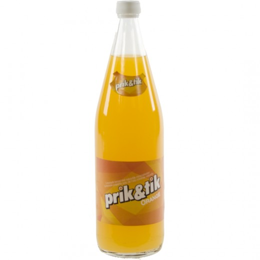 Prik & tik limo  Orange  1 liter   Fles