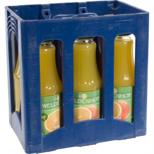 Weldenhof BIO fruitsap  Sinaas  1 liter  Bak  6 fl