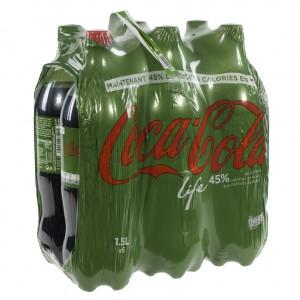 Coca Cola PET  Life  1,25 liter  Pak  6 st