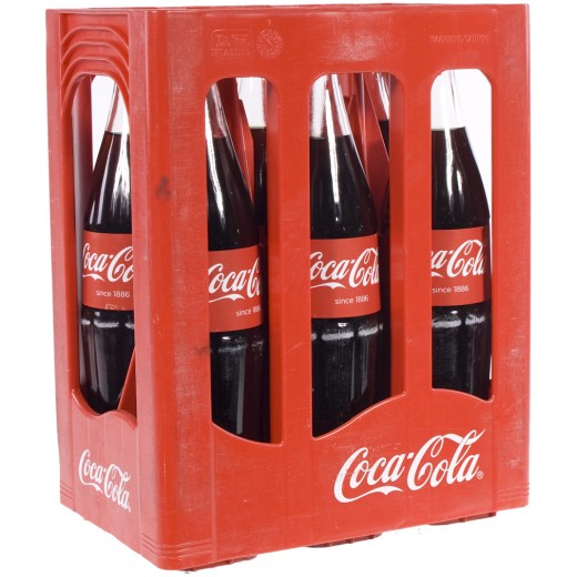 Coca Cola  Regular  1 liter  Bak  6 fl