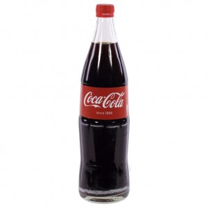 Coca Cola  Regular  1 liter   Fles