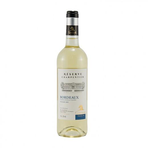 Gaston Bordeaux demi/sec  Res. Charpentier  Wit  75 cl   Fles