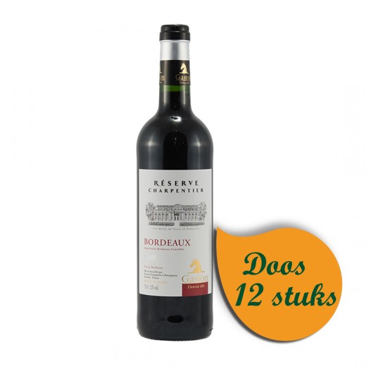Gaston Bordeaux Res. Charpentier  Rood  75 cl  Doos 12 st