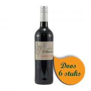 St Martin Cabernet Sauvignon 12.5%  Rood  75 cl  Doos  6 st