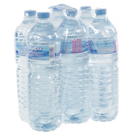 Prik & Tik Aurele bronwater pet  Plat  1,5 liter  Pak  6 st