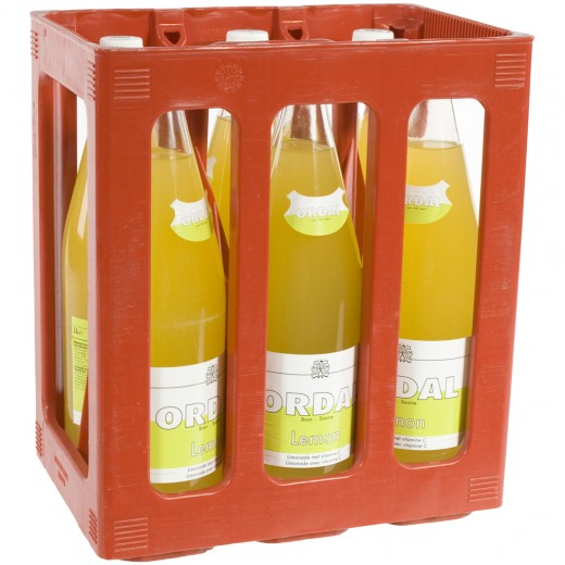 Ordal limonade  Lemon  1 liter  Bak  6 fl