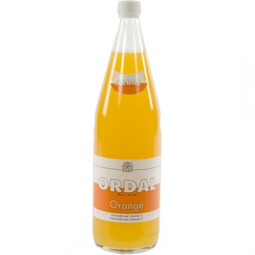 Ordal limonade  Orange  1 liter   Fles
