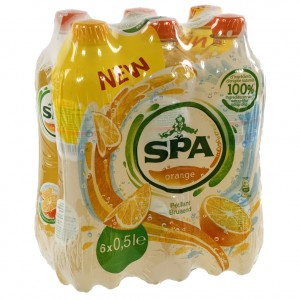 Spa limonade PET  Orange  50 cl  Pak  6 st