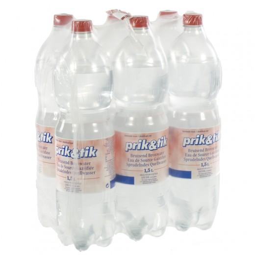 Prik & Tik Aurele bronwater pet  Bruis  1,5 liter  Pak  6 st