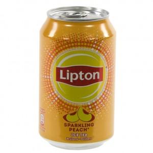 Lipton BLIK  Perzik Sparkling  33 cl  Blik