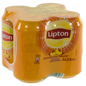 Lipton BLIK  Perzik Sparkling  33 cl  Blik 4 pak