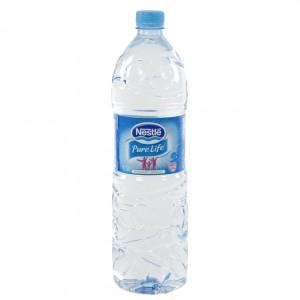Nestle pure Life PET  Plat  1,5 liter   Fles