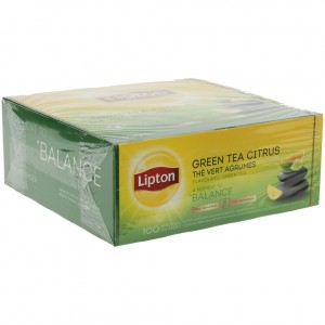 Lipton every day Green tea citrus prof.  Doos 100 st