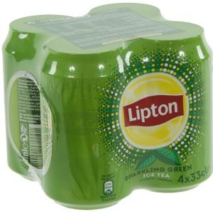 Lipton BLIK  Green Sparkling  33 cl  Blik 4 pak