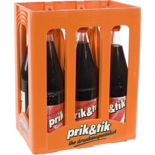 Prik & Tik Cola  Regular  1 liter  Bak  6 fl