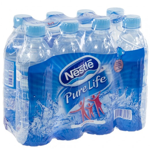 Nestle pure Life PET  Plat  50 cl  Pak  8 st