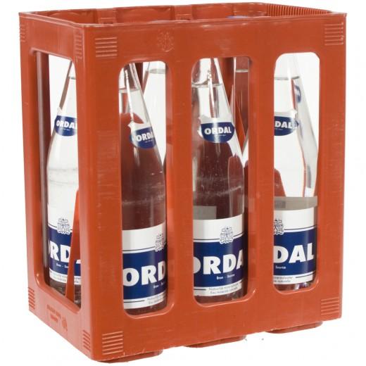 Ordal water  Plat  1 liter  Bak  6 fl