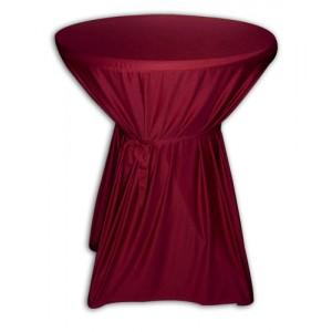 Statafelrok met strik excl. tafel  Bordeaux