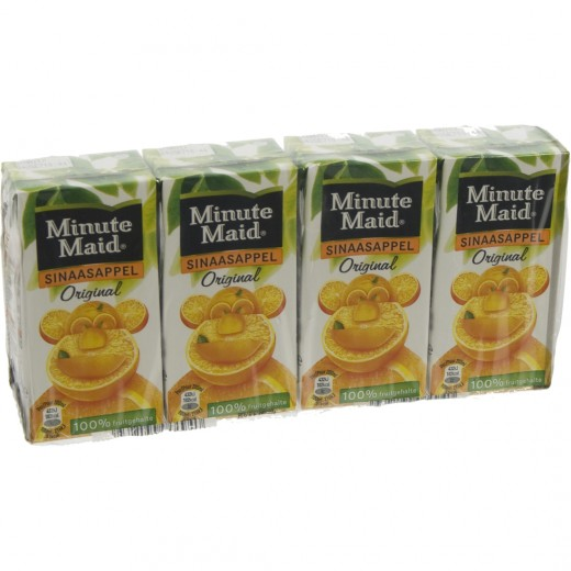 Minute Maid BRIK  Orange  20 cl  Pak  4 st