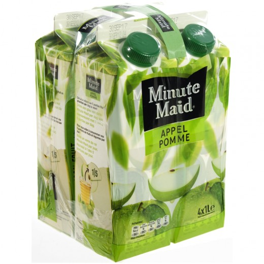 Minute Maid BRIK  Appel  1 liter  Pak  4 st