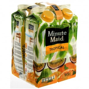 Minute Maid BRIK  Tropical  1 liter  Pak  4 st