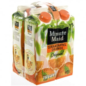 Minute Maid BRIK  Orange  1 liter  Pak  4 st
