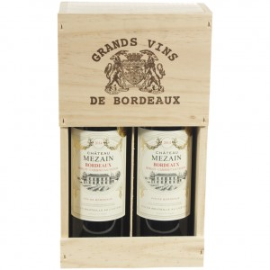 Chateau Mezain Bordeaux  75 cl  kist 2 fl