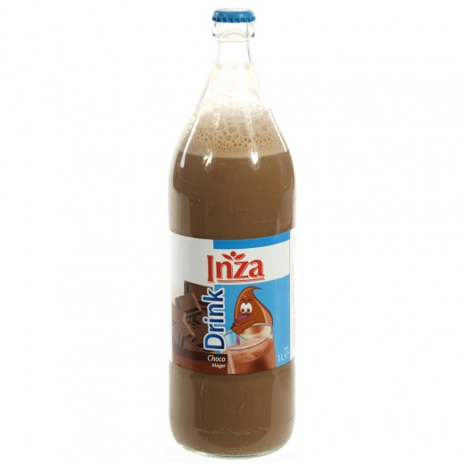 Inza Chocomelk  Magere  1 liter   Fles