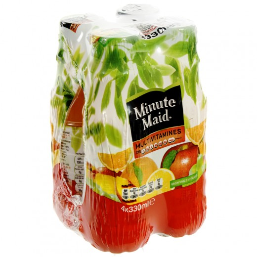 Minute Maid PET  Multivitamines  33 cl  Pak  4 st