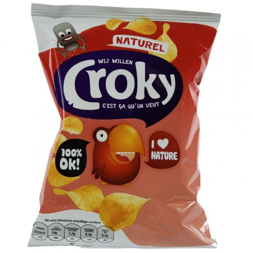 Croky Chips  Naturel   Stuk  40 g