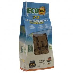 Aanmaakblokjes ecosol  Bruin  Zak 72st