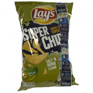 Lays Super Chips  Salt'n Pepper   Stuk  200 g