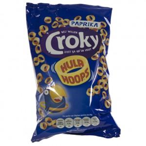 Croky Chips hula hoops  Paprika   Stuk  75 g