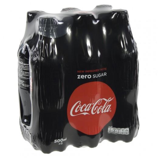 Coca Cola PET  Zero  50 cl  Pak  6 st