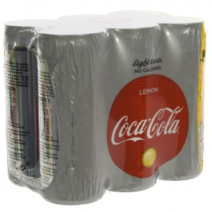 Coca Cola  Light Lemon  25 cl  Blik  6 pak